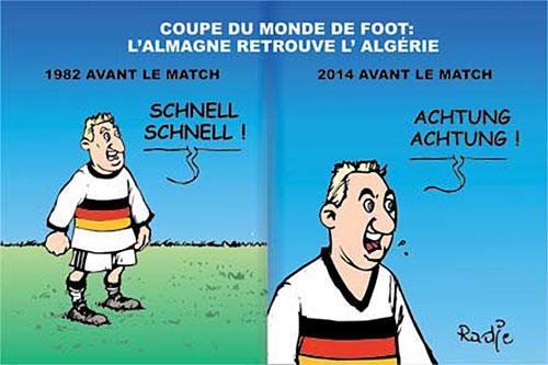 Coupe du monde de foot: L'Allemagne retrouve l'Algérie - Ghir Hak - Les Débats - Gagdz.com