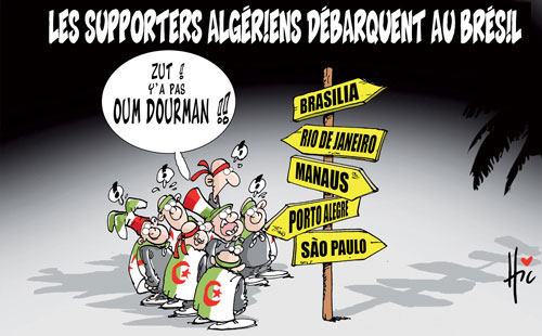 Les supporters algériens débarquent au Brésil - Le Hic - El Watan - Gagdz.com
