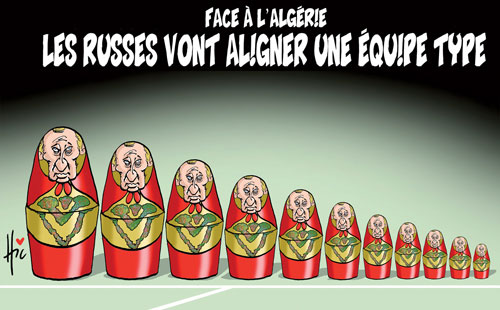 Face à l'Algérie: Les Russes vont aligner une équipe type