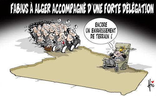 Fabius à Alger accompagné d'une forte délégation