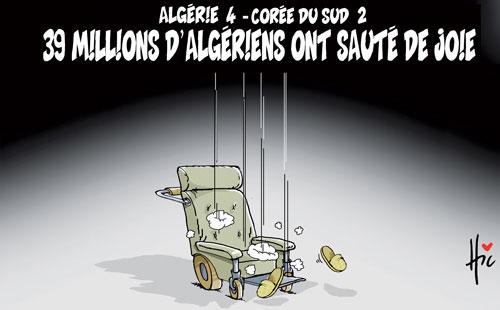Algérie 4-Corée du sud 2: 39 millions d'algériens ont sauté de joie - Le Hic - El Watan - Gagdz.com
