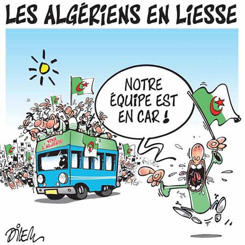 Les Algériens en lisse - Dilem - Liberté - Gagdz.com