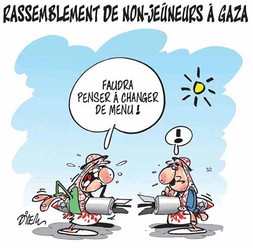 Rassemblement de non-jeuneurs à Gaza - Dilem - Liberté - Gagdz.com