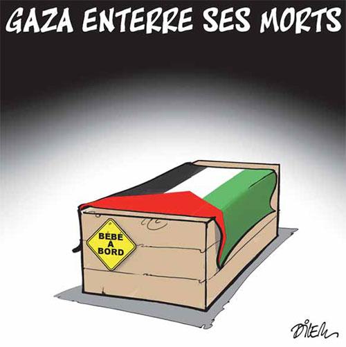 Gaza enterre ses morts - Dilem - Liberté - Gagdz.com