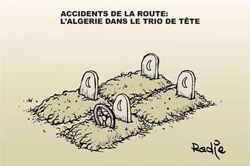 Accidents de la route: L'Algérie dans le trio de tête - Ghir Hak - Les Débats - Gagdz.com
