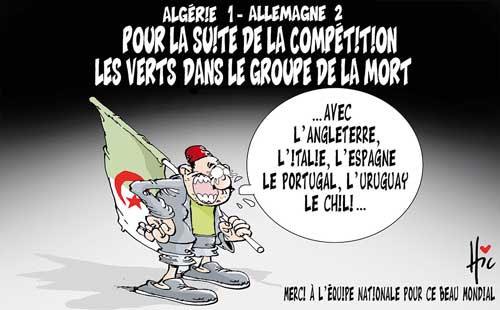 Algérie 1 - Allemagne 2: Pour la suite de la compétition les verts dans le groupe de la mort - Le Hic - El Watan - Gagdz.com