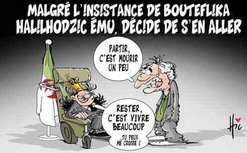 Malgré l'insistance de Bouteflika: Halilhodic ému, décide de s'en aller - Le Hic - El Watan - Gagdz.com