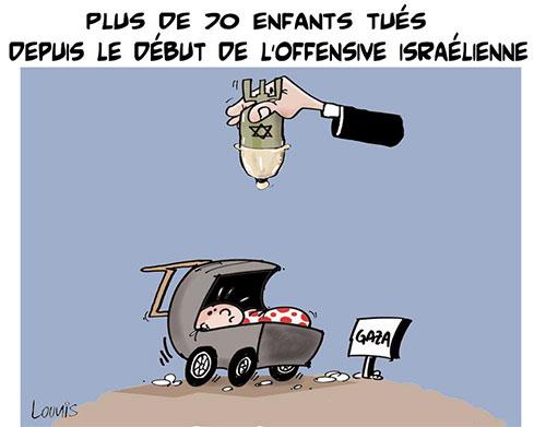 Plus de 70 enfants tués depuis le début de l'offensive israélienne - Lounis Le jour d'Algérie - Gagdz.com