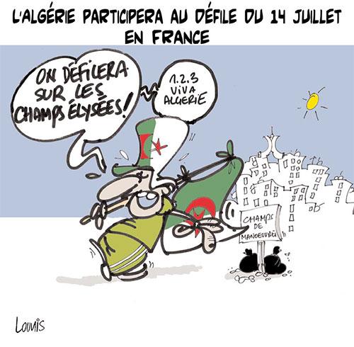 L'Algérie participera au défilé du 14 juillet en France - Lounis Le jour d'Algérie - Gagdz.com