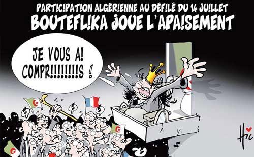 Participation algérienne au défilé du 14 juillet: Bouteflika joue l'apaisement - Vitamine - Le Soir d'Algérie - Gagdz.com