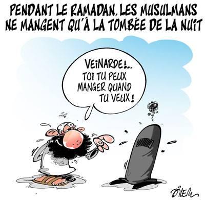Pendant le ramadan, les musulmans ne mangent qu'à la tombée de la nuit - Dilem - TV5 - Gagdz.com