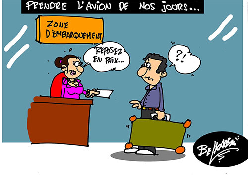 Prendre l'avion de nos jours - Belkacem - Le Courrier d'Algérie - Gagdz.com