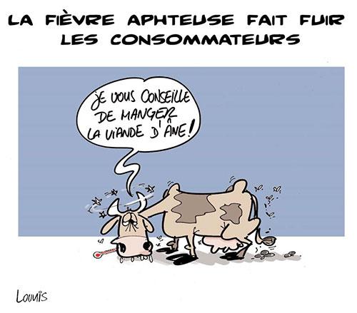 La fièvre aphteuse fait fuir les consommateurs - Lounis Le jour d'Algérie - Gagdz.com