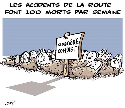 Les accidents de la route font 100 morts par semaine - Lounis Le jour d'Algérie - Gagdz.com