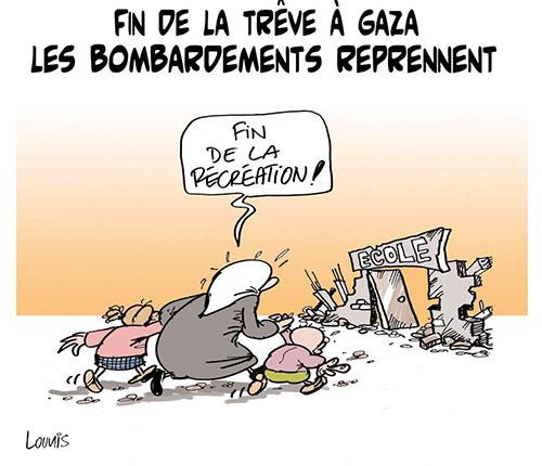Fin de la trêve à Gaza: Les bombardements reprennent - Lounis Le jour d'Algérie - Gagdz.com