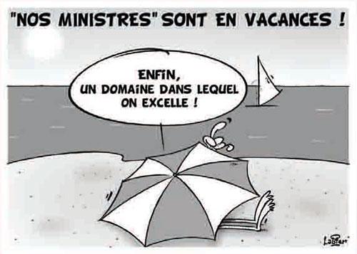 Nos ministres sont en vacances - Vitamine - Le Soir d'Algérie - Gagdz.com