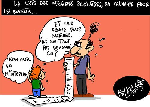 La liste des affaires scolaires, un calvaire pour les parents - Belkacem - Le Courrier d'Algérie - Gagdz.com