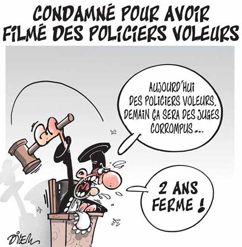 Condamné pour avoir filmé des policiers voleurs