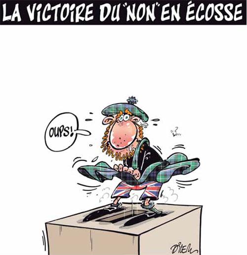 La victoire du non en Ecosse