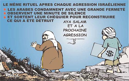 Le même rituel après chaque agression israélienne - Ghir Hak - Les Débats - Gagdz.com