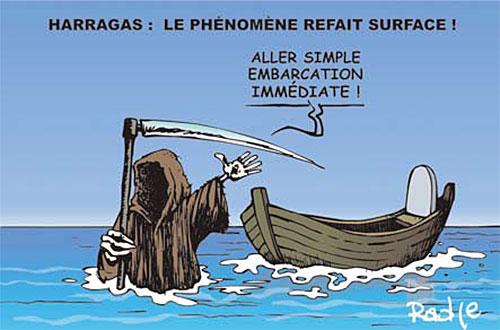 Harragas: Le phénomène refait surface - Ghir Hak - Les Débats - Gagdz.com