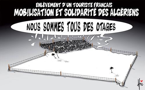 Enlèvement d'un touriste français: Mobilisation et solidarité des algériens