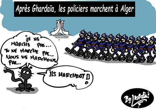 Après Ghardaïa, les policiers marchent à Alger - Belkacem - Le Courrier d'Algérie - Gagdz.com