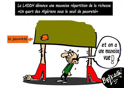 La LADDH dénonce une mauvaise répartition de la richesse: Un quart des algériens sous le seuil de pauvreté - Belkacem - Le Courrier d'Algérie - Gagdz.com