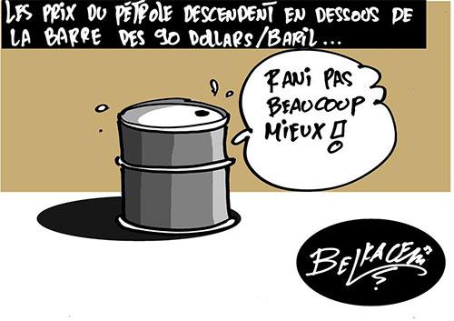 Le prix du pétrole desendent en dessous de la barre des 90 dollars/baril - Belkacem - Le Courrier d'Algérie - Gagdz.com