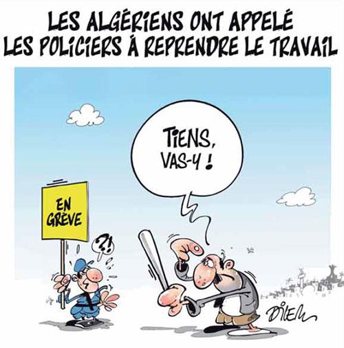 Les Algériens ont appelé les policiers à reprendre le travail