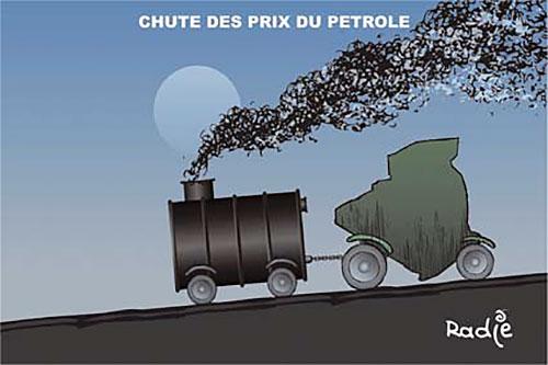 Chute des prix du petrole