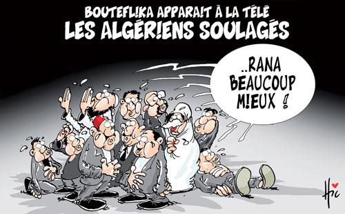 Bouteflika apparait à la télé: Les Algériens soulagés - Le Hic - El Watan - Gagdz.com