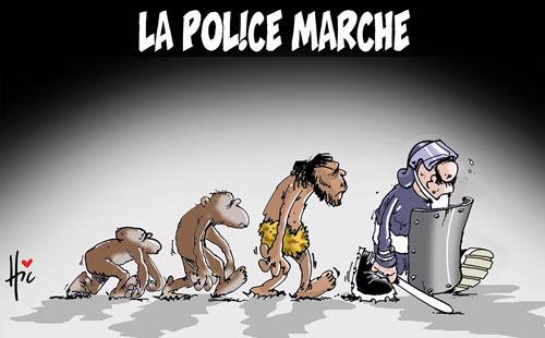 La police marche - Le Hic - El Watan - Gagdz.com