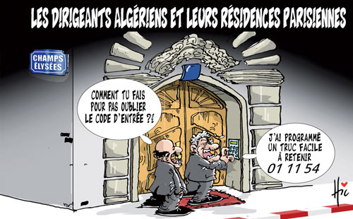 Les dirigeants algérien et leurs résidences parisiennes - Le Hic - El Watan - Gagdz.com
