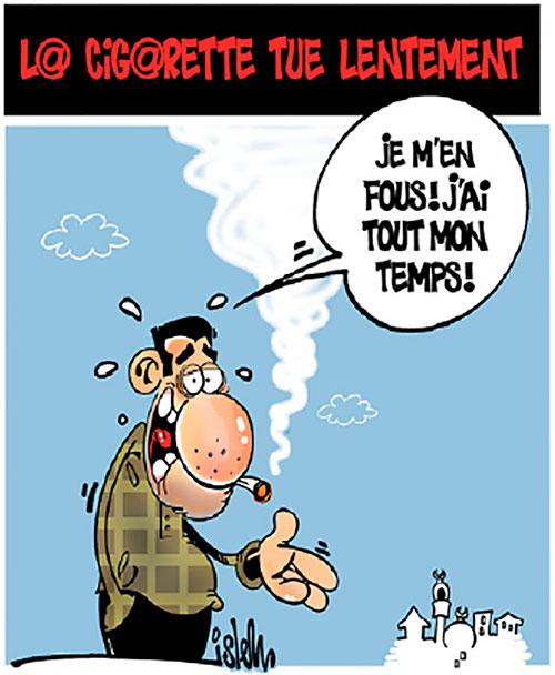 Cigarette Caricature la cigarette tue lentement | caricatures et humour | gagdz