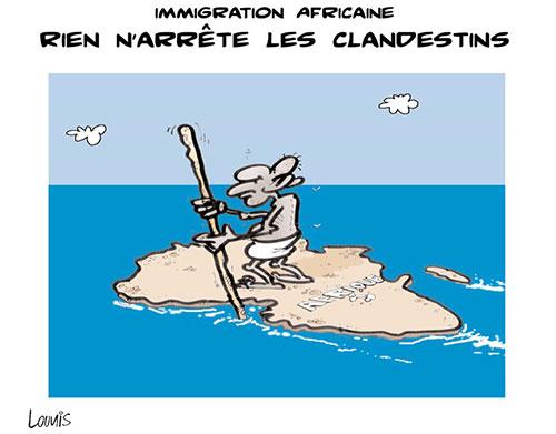 Immigration africaine: Rien n'arrête les clandestins - Lounis Le jour d'Algérie - Gagdz.com