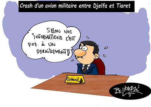 Crash d'un avion militaire entre Djelfa et Tiaret - Belkacem - Le Courrier d'Algérie - Gagdz.com
