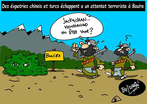 Des éxpatriés chinois et turcs échappent à un attentat terroriste à Bouira - Belkacem - Le Courrier d'Algérie - Gagdz.com