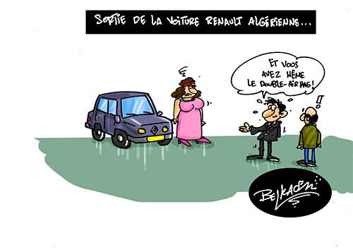 Sortie de la voiture renault algérienne - Belkacem - Le Courrier d'Algérie - Gagdz.com