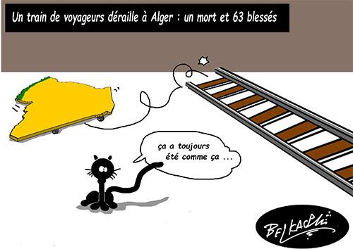 Un mort et 63 blessés: Un train de voyageurs déraille à Alger - Belkacem - Le Courrier d'Algérie - Gagdz.com