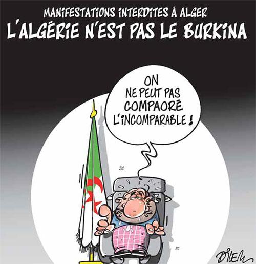Manifestations interdites à Alger: L'Algérie n'est pas le Burkina