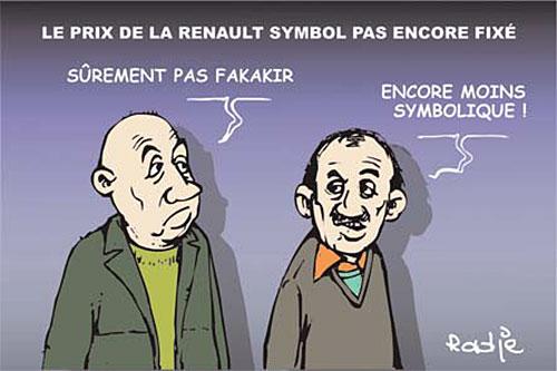 Le prix de la renault symbol pas encore fixé - Ghir Hak - Les Débats - Gagdz.com