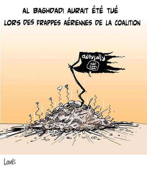 Al Baghdadi aurait été tué lors des frappes aériennes de la coalition