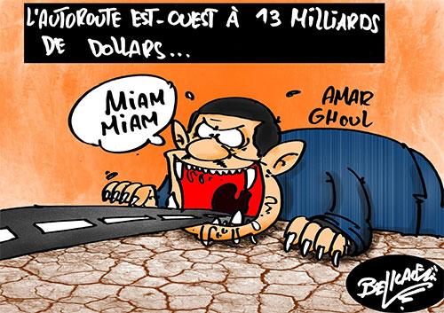 L'autoroute est-ouest à 13 milliards de dollars - Belkacem - Le Courrier d'Algérie - Gagdz.com