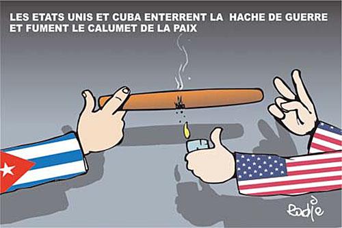 Les Etats Unis et Cuba enterrent la hache de guerre et fument le calumet de la paix - Ghir Hak - Les Débats - Gagdz.com