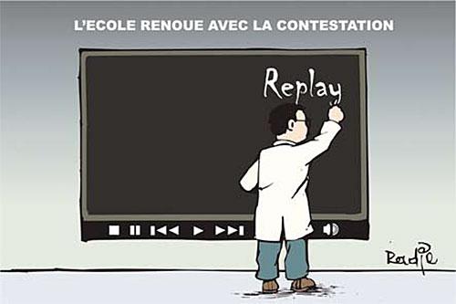 L'école renoue avec la contestation - Ghir Hak - Les Débats - Gagdz.com