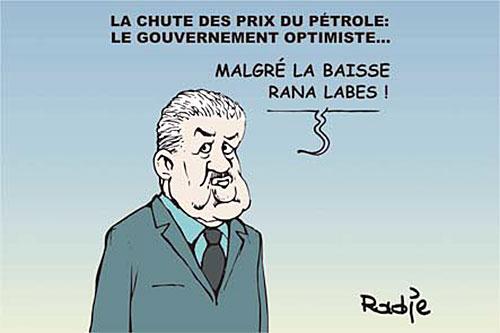 La chute des prix du pétrole: Le gouvernement optimiste - Ghir Hak - Les Débats - Gagdz.com