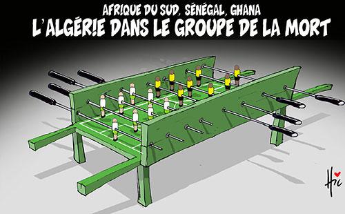 Afrique du sud, Sénégal, Ghana: L'Algérie dans le groupe de la mort