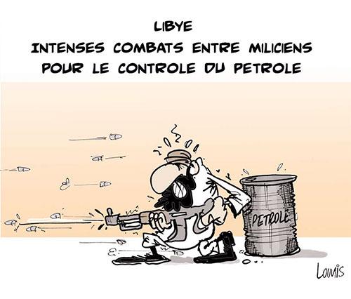 Libye: Intenses combats entre miliciens pour le controle du petrole - Lounis Le jour d'Algérie - Gagdz.com
