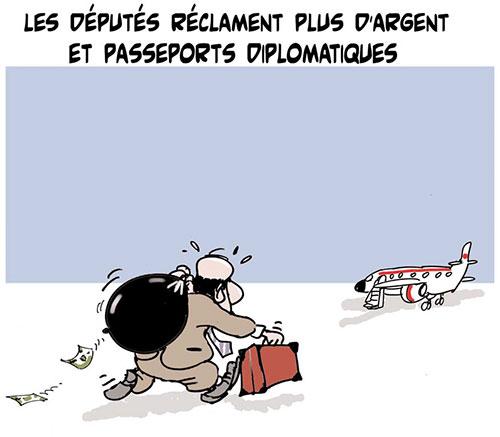 Les députés réclament plus d'argent et passeports diplomatiques - Lounis Le jour d'Algérie - Gagdz.com